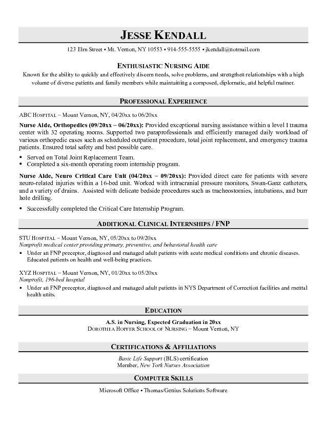 Sample Objective Resume For Nursing - http\/\/wwwresumecareerinfo - nursing assistant resume examples