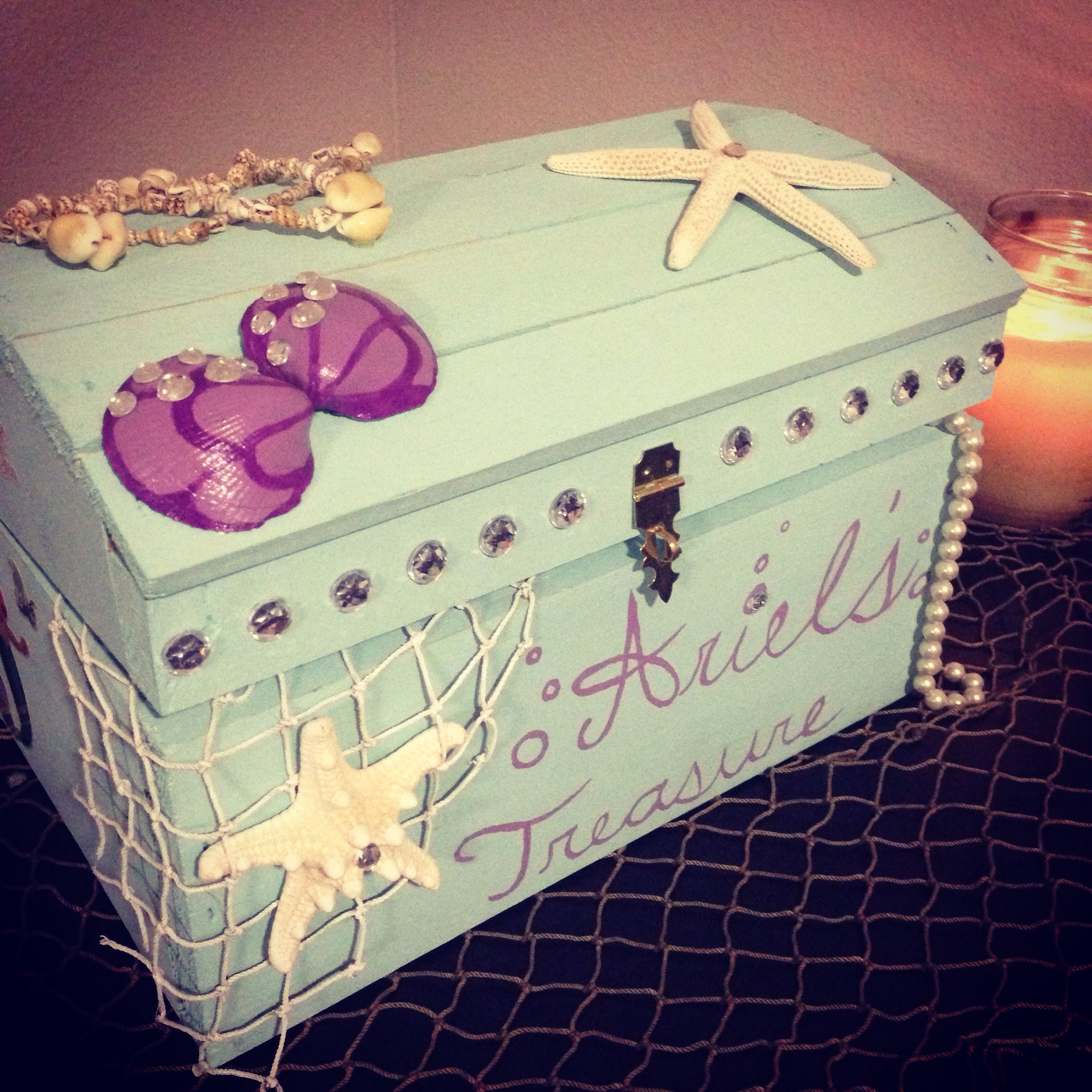 Mermaid Gift Ideas Mermaid Treasure Chest Disney Stuff Pinterest