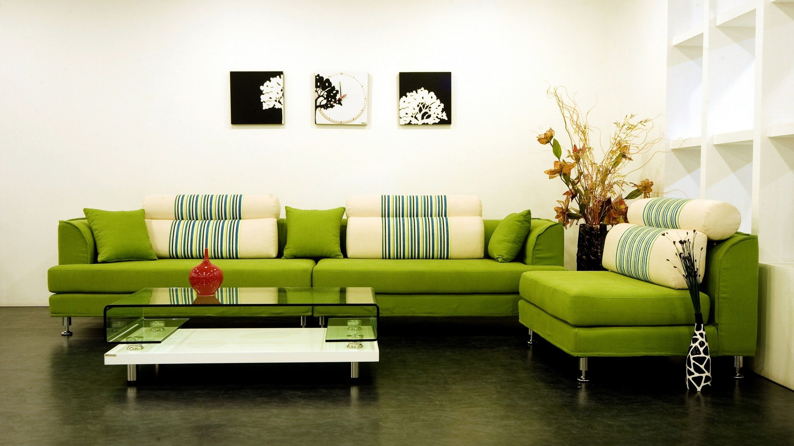 Modern green sofa matches the rug perfectly green living roomsliving room