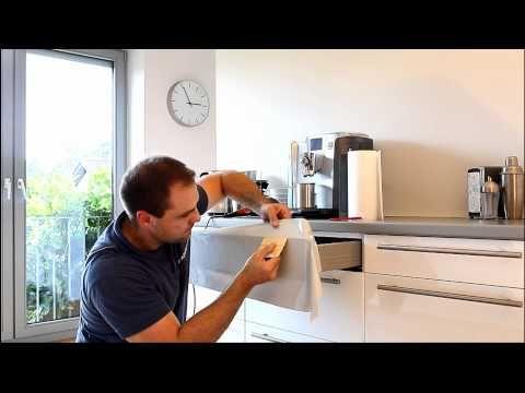 Küchenschränke bekleben - Wie kann man alte Küchenfronten erneuern - klebefolie kueche kuechenmoebel
