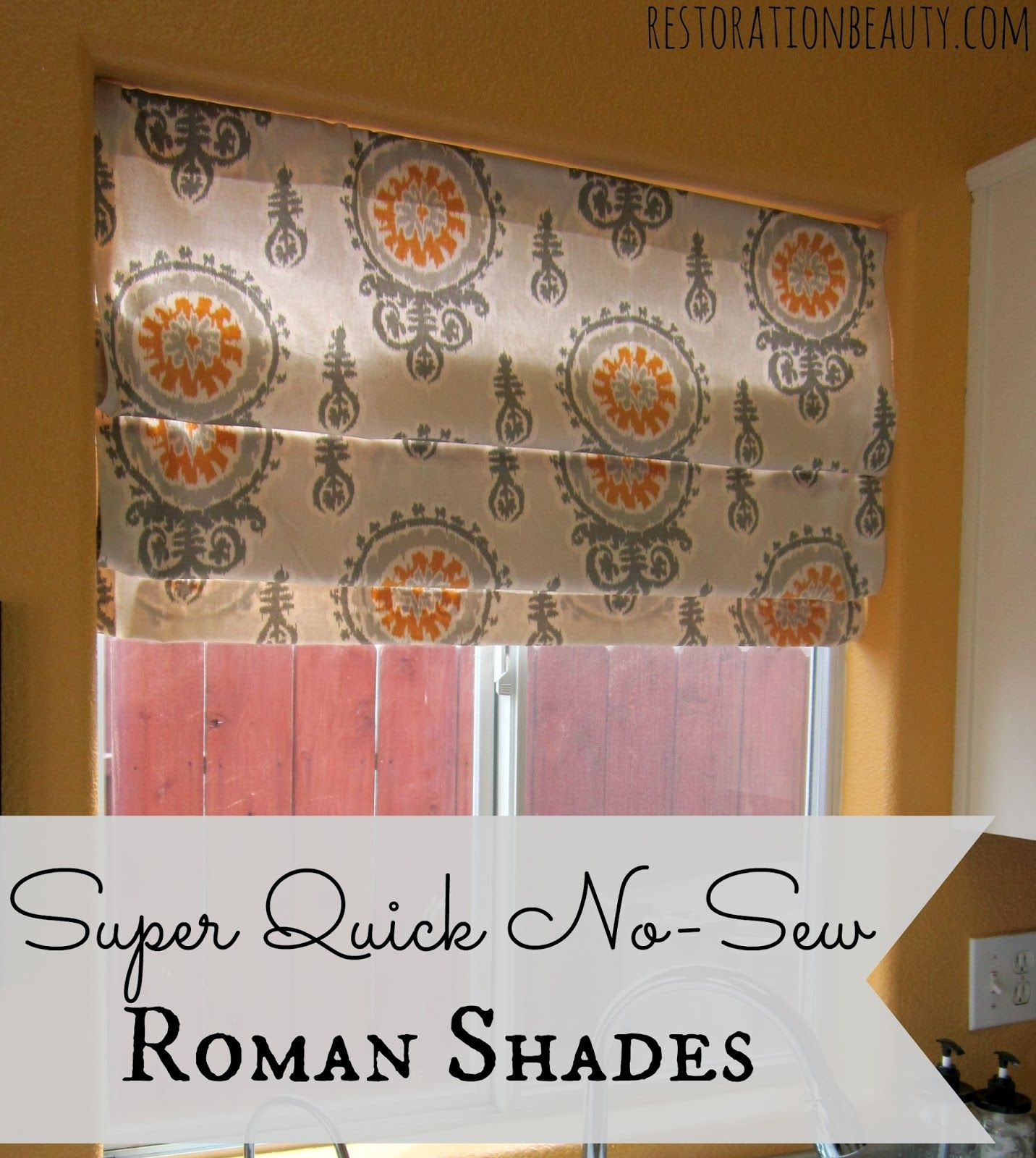 Where To Buy Roman Shades Super Quick No Sew Roman Shades Beauty Tips Happy And
