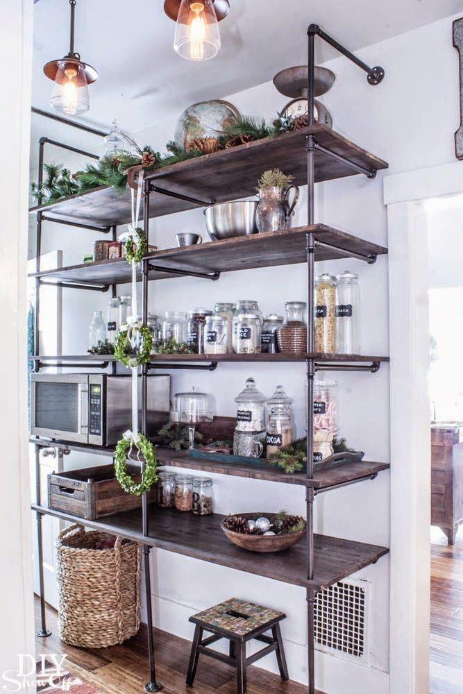 Kitchen Storage Open Shelving Open shelving, Storage and Kitchens - kitchen shelving ideas