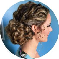 Love this naturally curly updo for a bride or prom | Locks ...