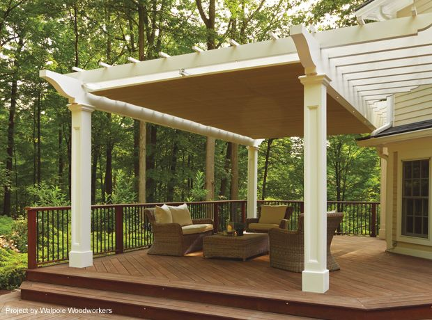 Inexpensive Hardscape Ideas Retractable Pergola Canopy In Morris Plains | Shadefx