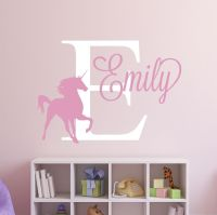 Custom Unicorn Name Wall Decal - Girl Nursery Wall Decals ...