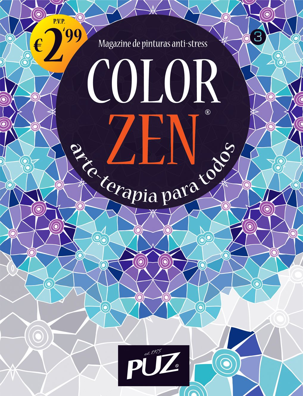 Color zen nr 3 magazine de pinturas anti stress da puz arte