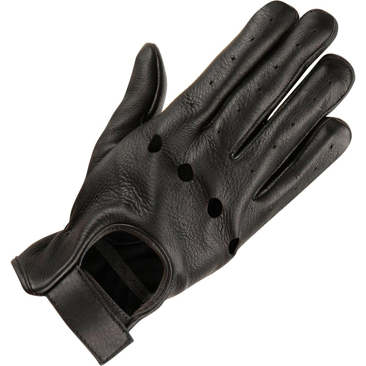 Men s leather driving glove w knuckle holes
