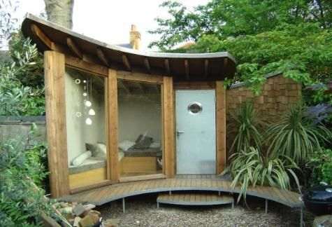 Unique Sheds Relaxation room, Artist studios and Spa - garden shed design