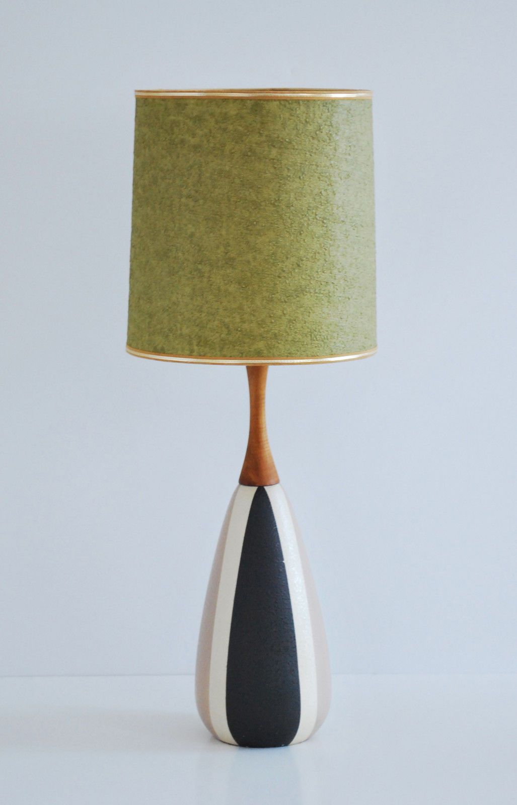 Modern Vintage Lights Mid Century Modern Vintage Danish Ceramic Teak Table Lamp