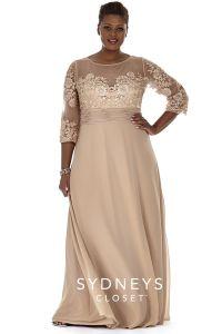 Plus Size Formal Dress Sleeves | Sydney's Closet | wedding ...
