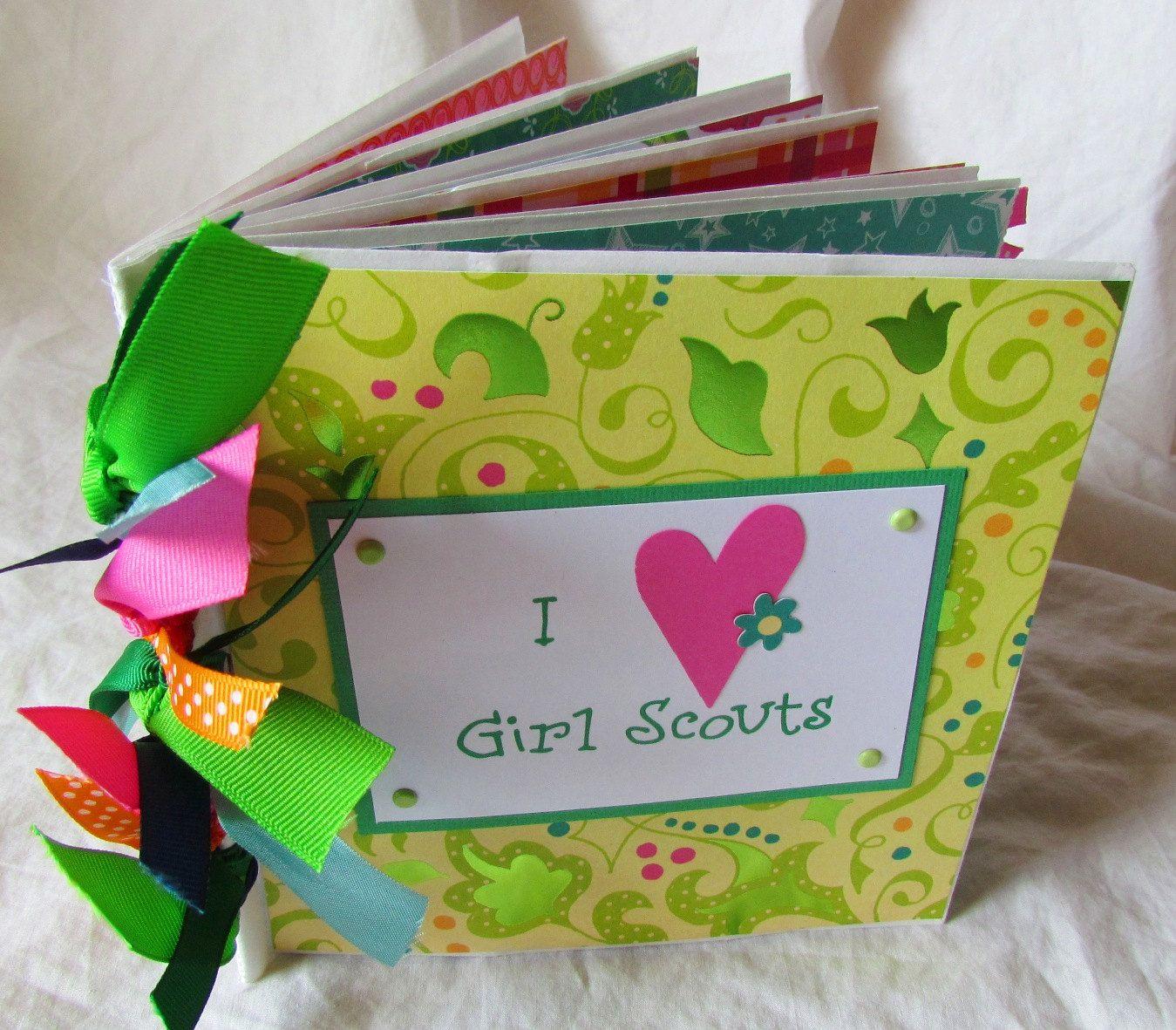 I love girl scouts paper bag scrapbook album brownies juniors cadettes seniors ambassadors