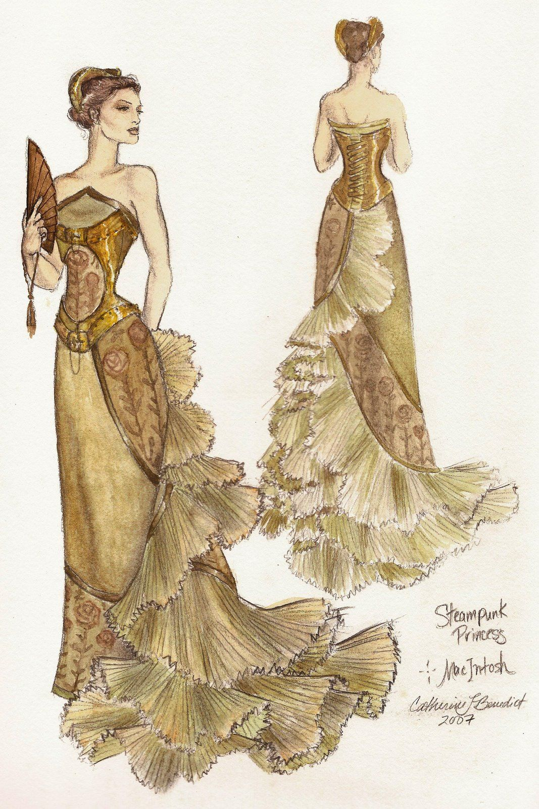 La Bella Moda Steampunk Princess Ballgown By Fashion Artist Catherine