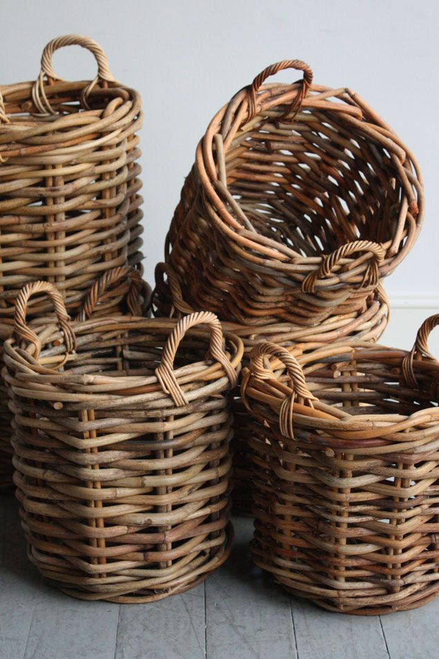 Rattan Yarn Wicker Baskets, Howe. Love For My Yarn Stash | Ideas Para