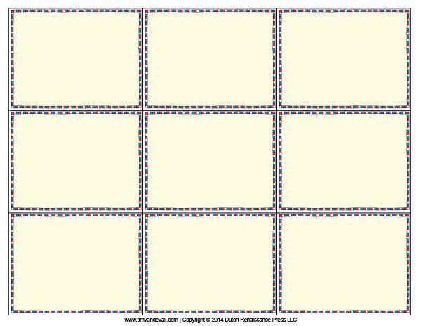 Blank Flash Card Templates Printable Flash Cards PDF Format - blank card template