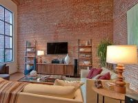 Image result for face brick wall living room | Family room ...