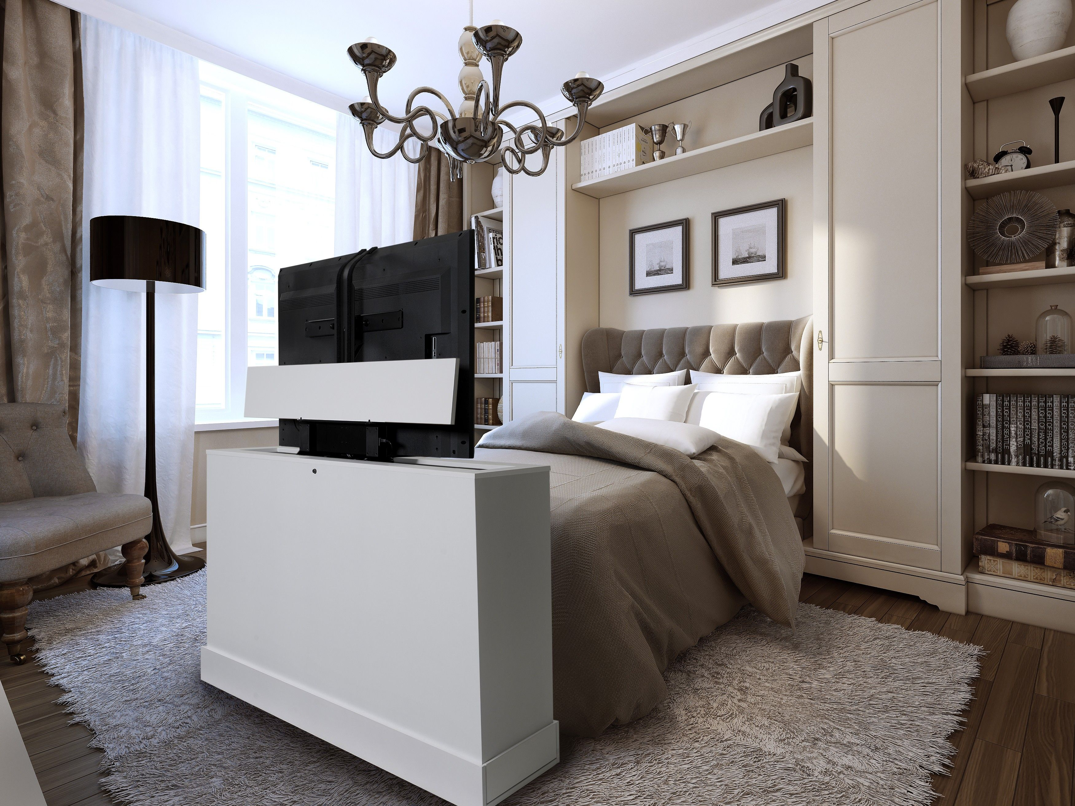 Slim Tv Unit Azura White Finish Foot Of The Bed Lifts This Unit Is A