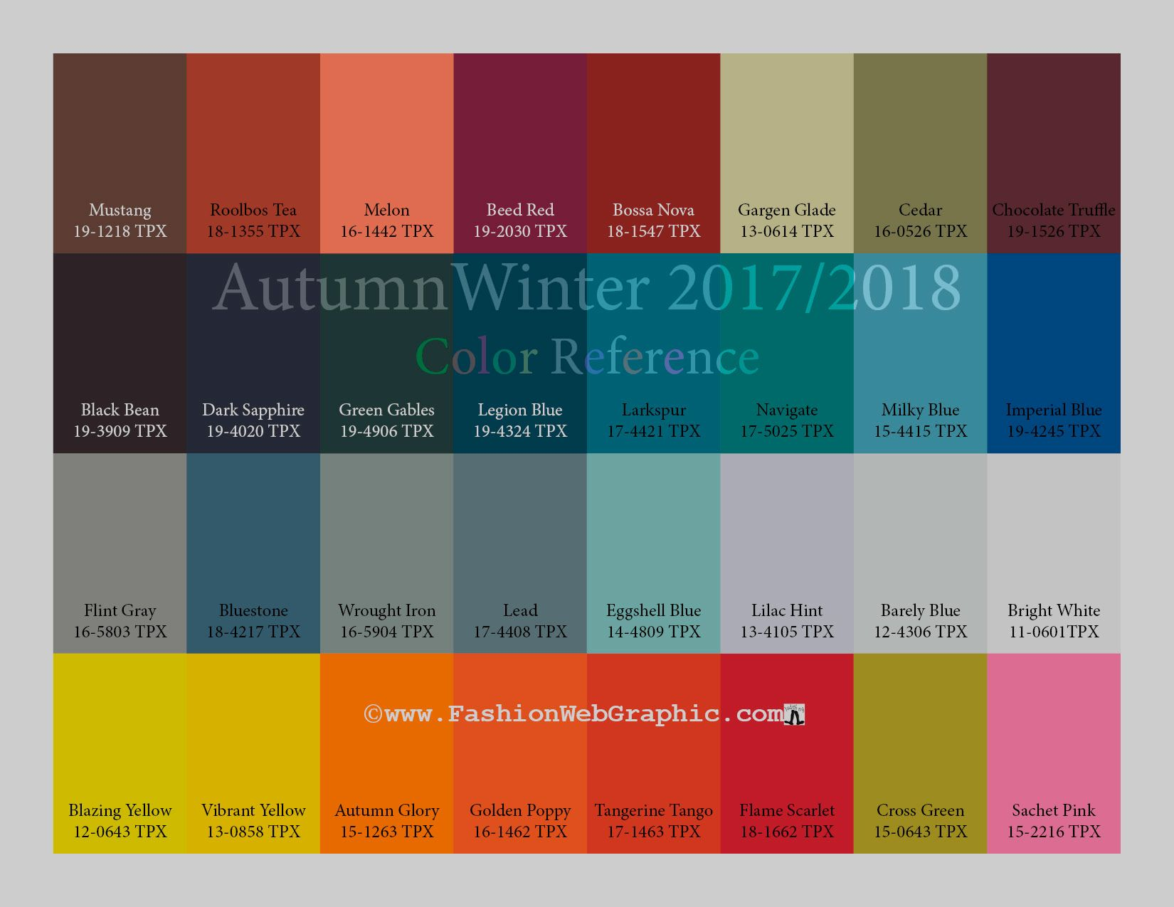 Pantone 2017 Autumn Winter 2017 2018 Trend Forecasting Is A Trend Color