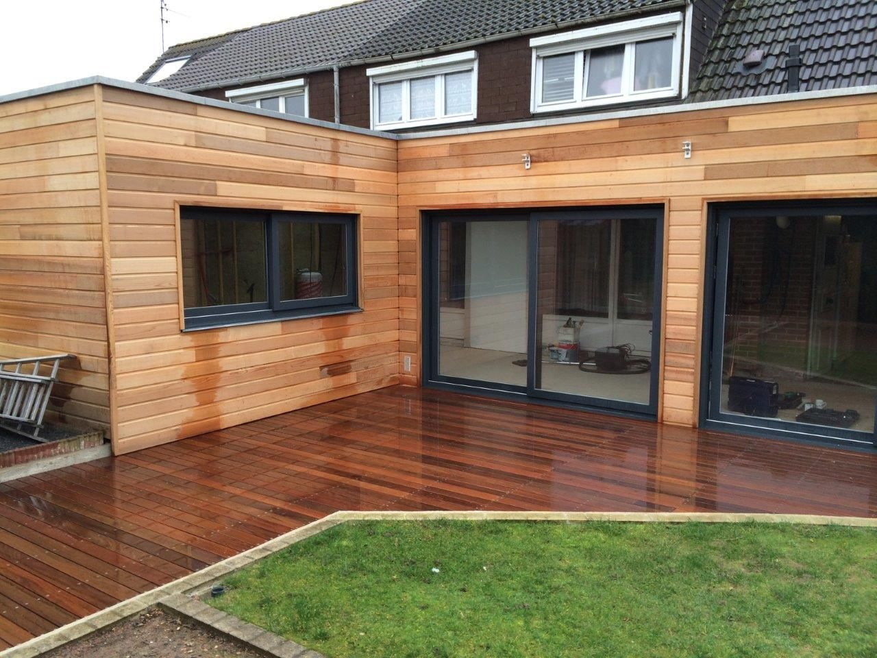 Terrasse Red Cedar Extention Bardage Red Cedar Et Terrasse Sur Plots | Maison