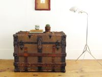 antique trunk,trunk coffee table,antique trunk,wooden ...