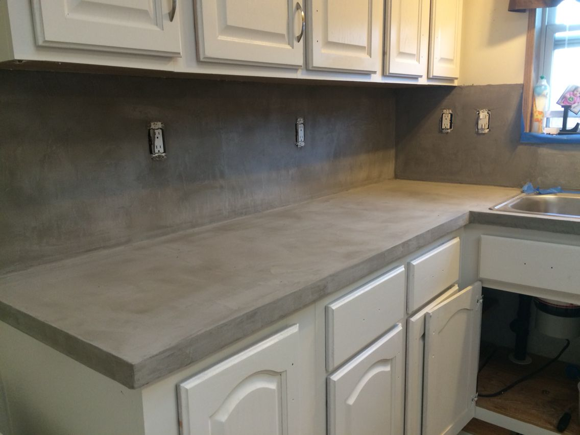 Finished Concrete Countertops Henry Feather Finish Diy Countertop Decor Bathroom