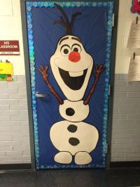 Olaf door at school!  | Pinteres