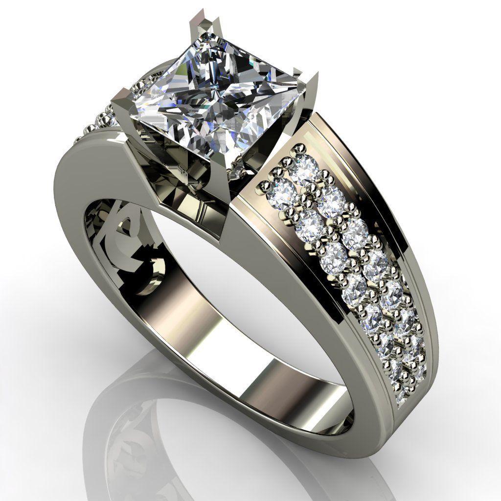 womens titanium wedding bands Princess Cut Diamond Engagement Ring This is an incredible 2 60 carat Princess Cut Diamond Engagement