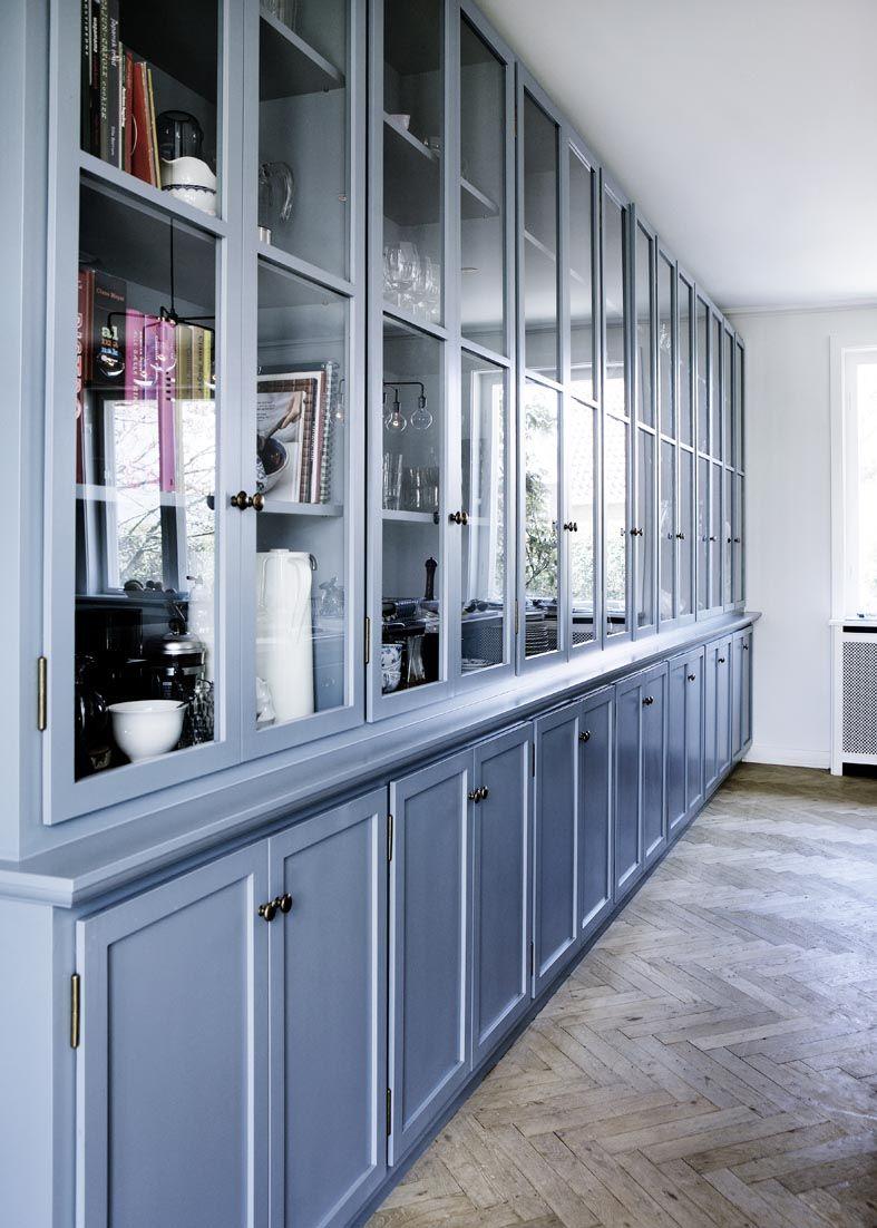 blue kitchen cabinets Modern Kitchen Paint Colors Cool Blue Paint for Wood Kitchen Cabinets and Walls