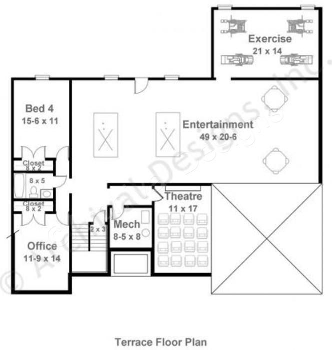 mystic lane retirement house plan ranch floor plan basement house plans with basements