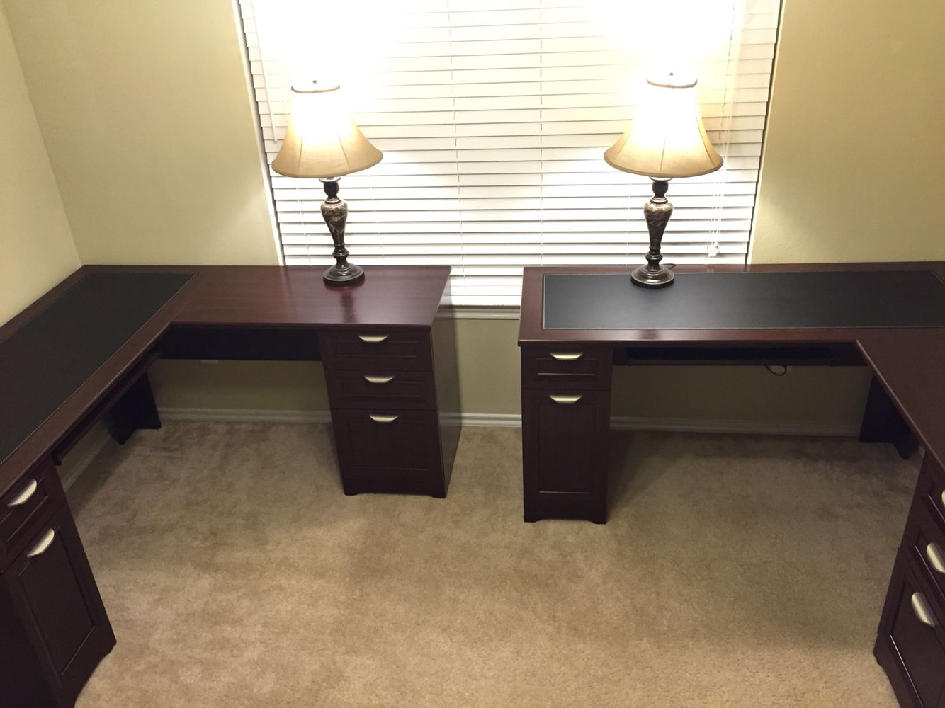 Home Office Space For Two His And Hers Home Office Two L Shaped Desk From Office