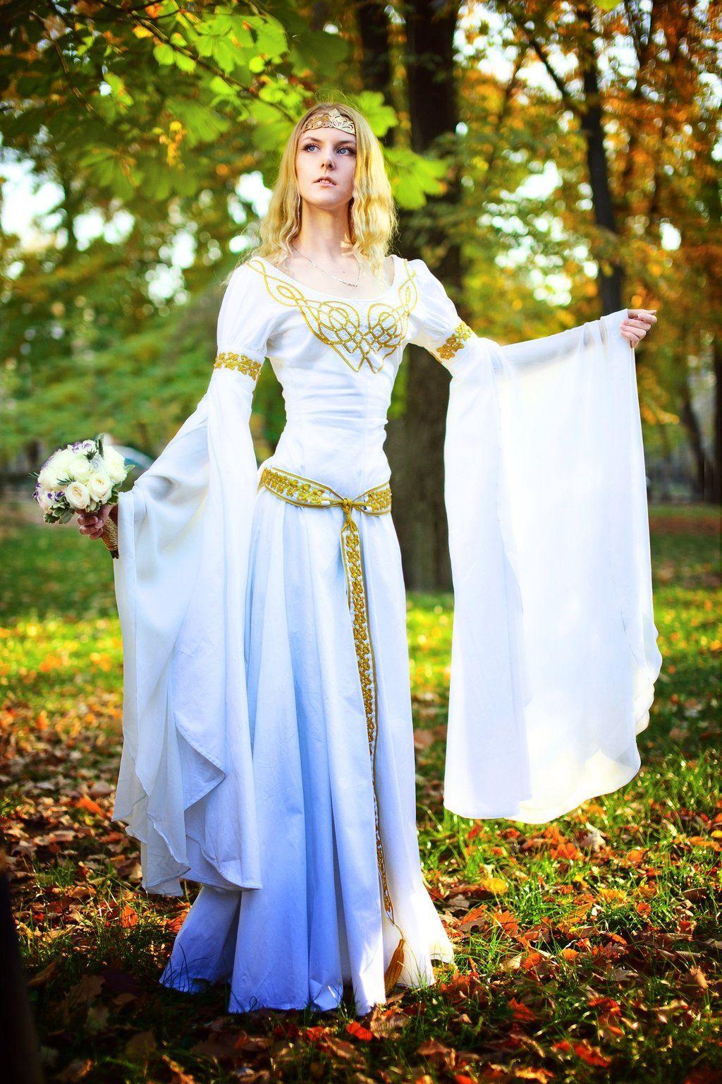elvish wedding dress The Elven wedding dress by Ainaven on deviantART