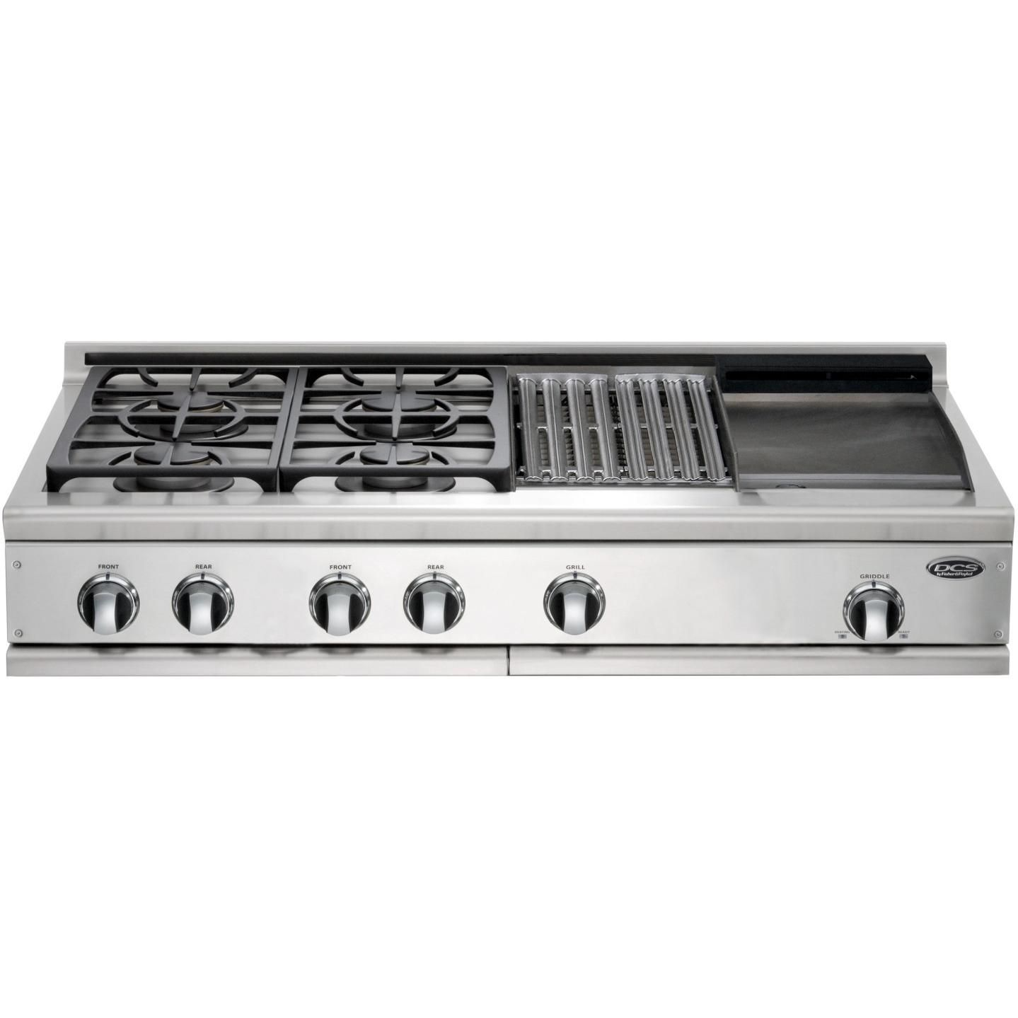 Cooktop Gas Stoves Dcs Cooktops 48 Inch Propane Gas Cooktop With Griddle