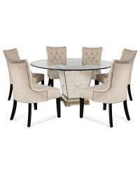 "Marais Dining Room Furniture, 7 Piece Set (60"" Mirrored ..."