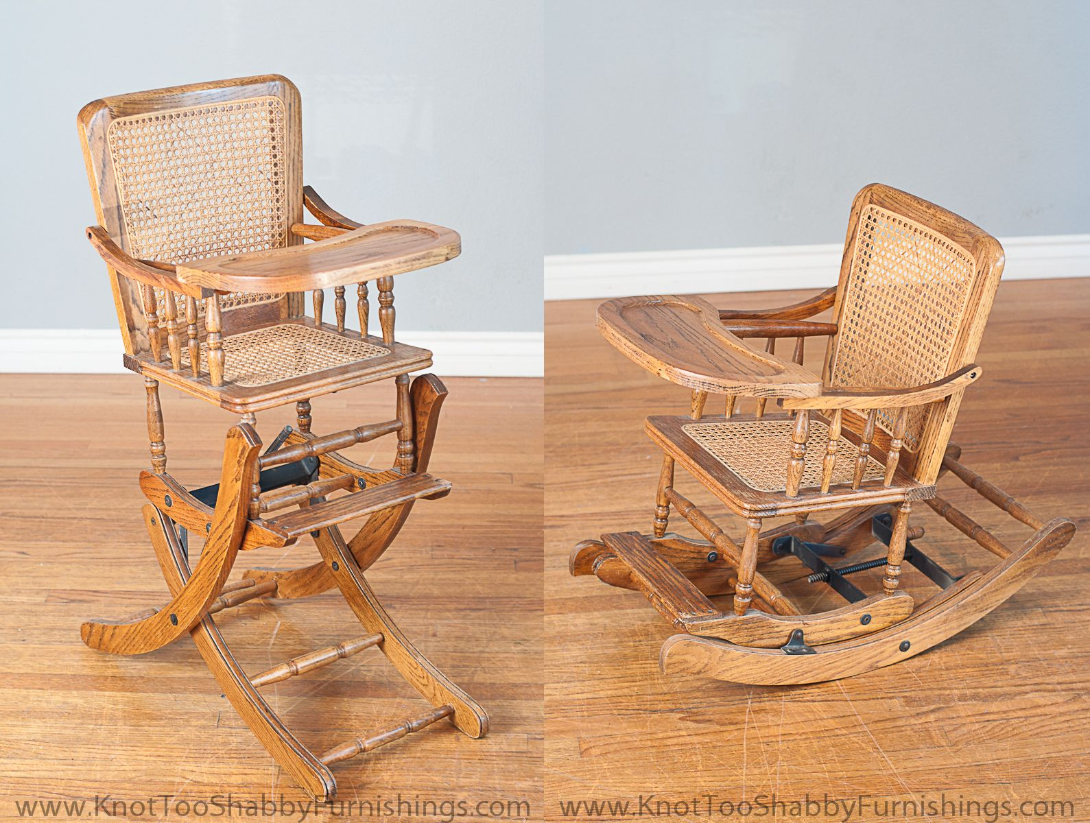 Modern Baby Rocking Chair Antique Baby High Chair That Also Transforms Into A