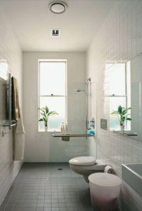 bathroom small narrow bathroom ideas tub shower popular ...