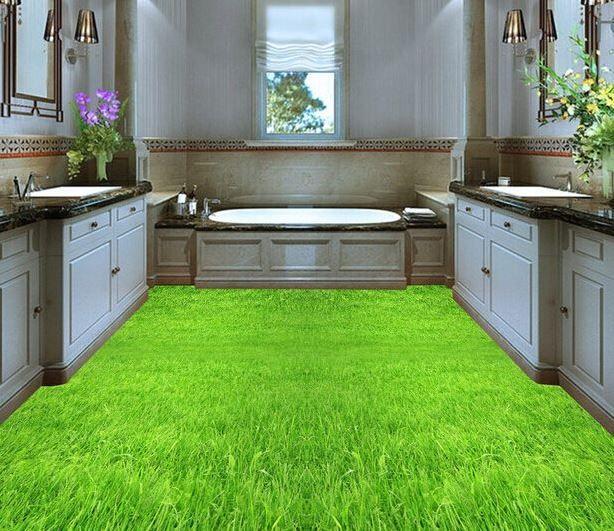 3D Bathroom Floor - Bathroom Badezimmer waschbecken, Fußboden - 3d badezimmerboden
