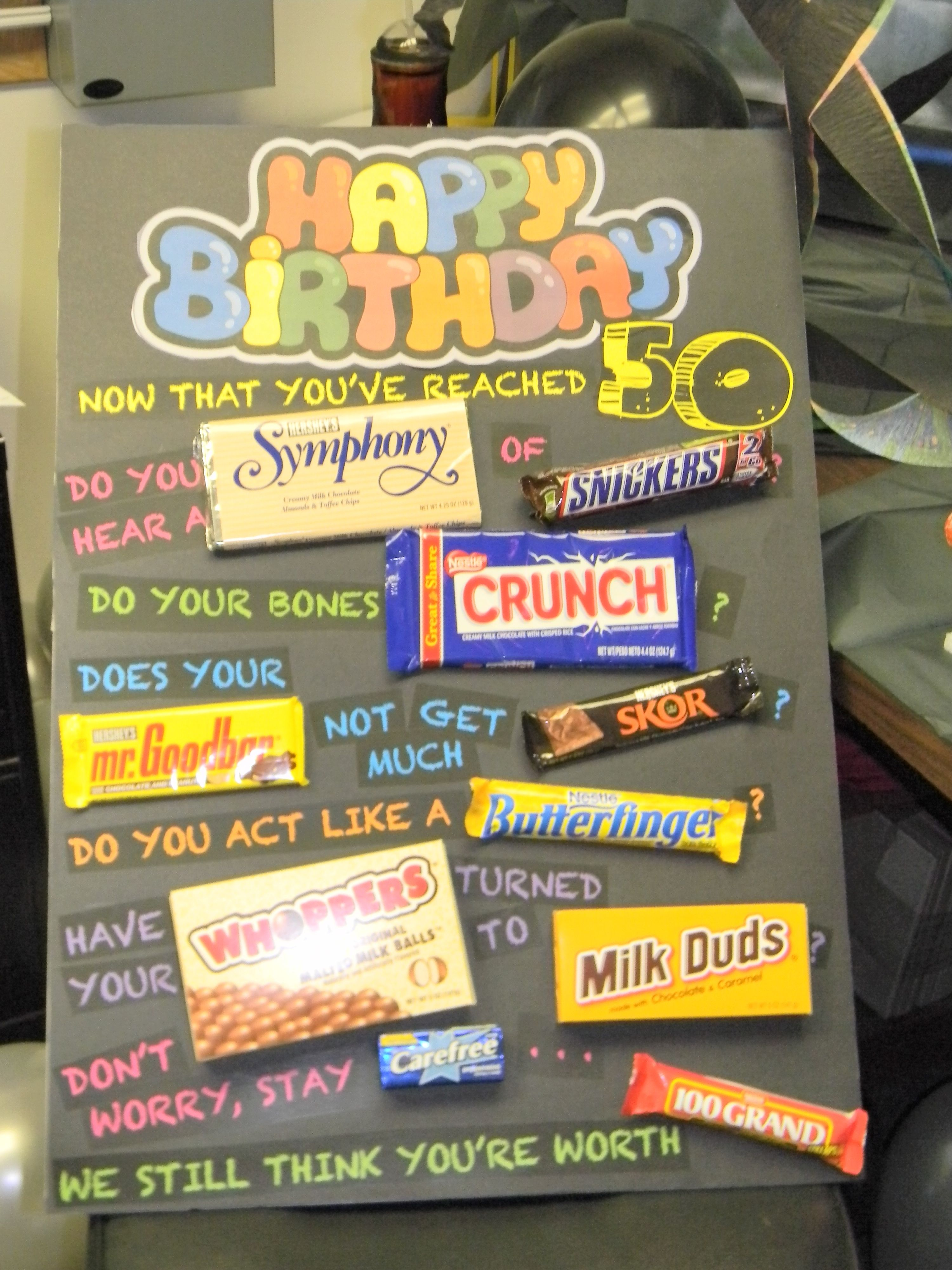 Easy Diy Birthday Gifts For Dad 50th Birthday Gift Ideas 50th Birthday Cards 50th And