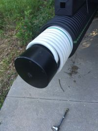 """RV WATER HOSE STORAGE. 6"""" sewer & drain pipe and 8"""" double ..."""