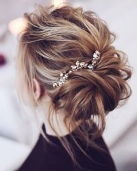 Beautiful messy bridal hair updos | Wedding hairstyle updos