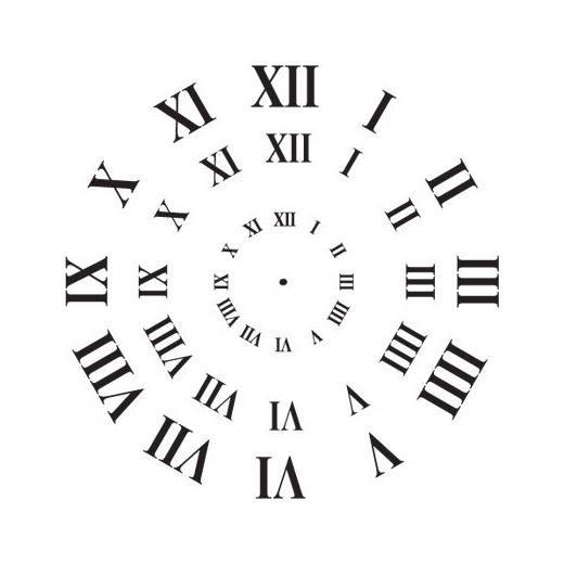 Stencil Clock Face Roman Numerals - 3 Sizes Clock faces, Craft - roman numeral chart template