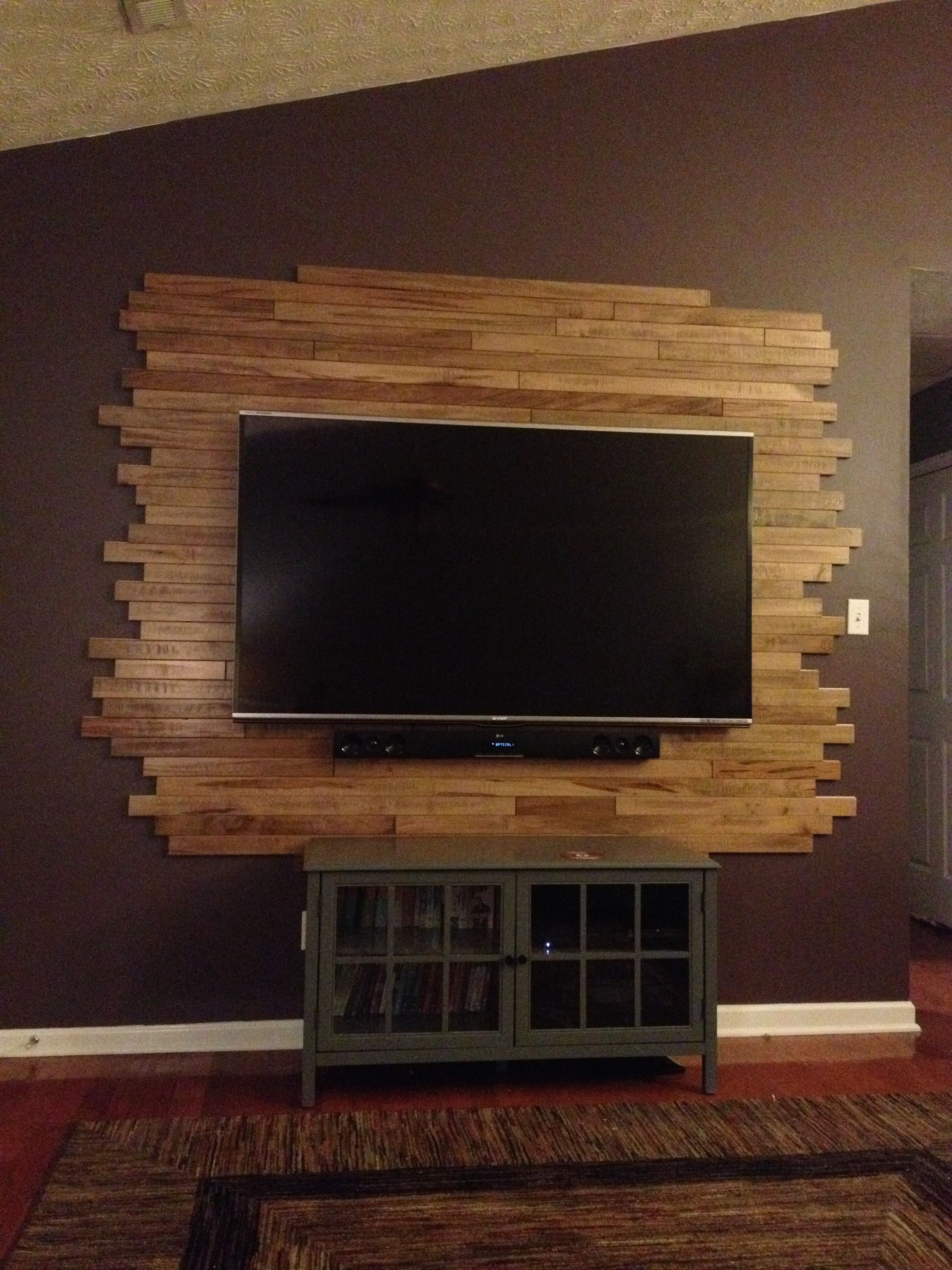 Wooden Wall Tv Mount Wood Tv Wall My Creations Pinterest Tv Walls Tvs