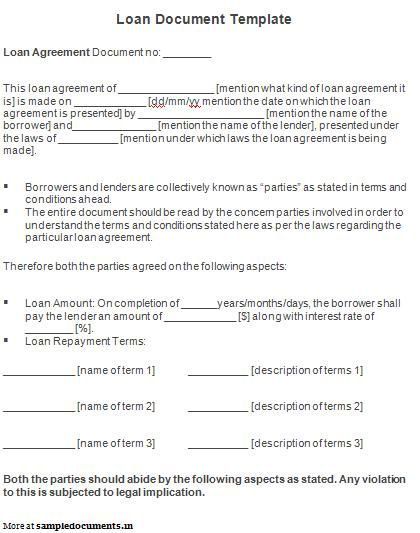 Printable Sample Personal Loan Agreement Form Legal Documents - free personal loan agreement form