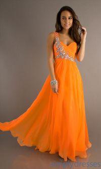 Elegant Orange Bridesmaid Dresses : Orange Dress | Wedding ...