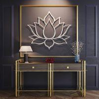 Large Lotus Flower Metal Wall Art, Metal Flower Wall Art ...