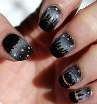 Camping nail art, UberChic nail stamping 2-02, 2-03 ...