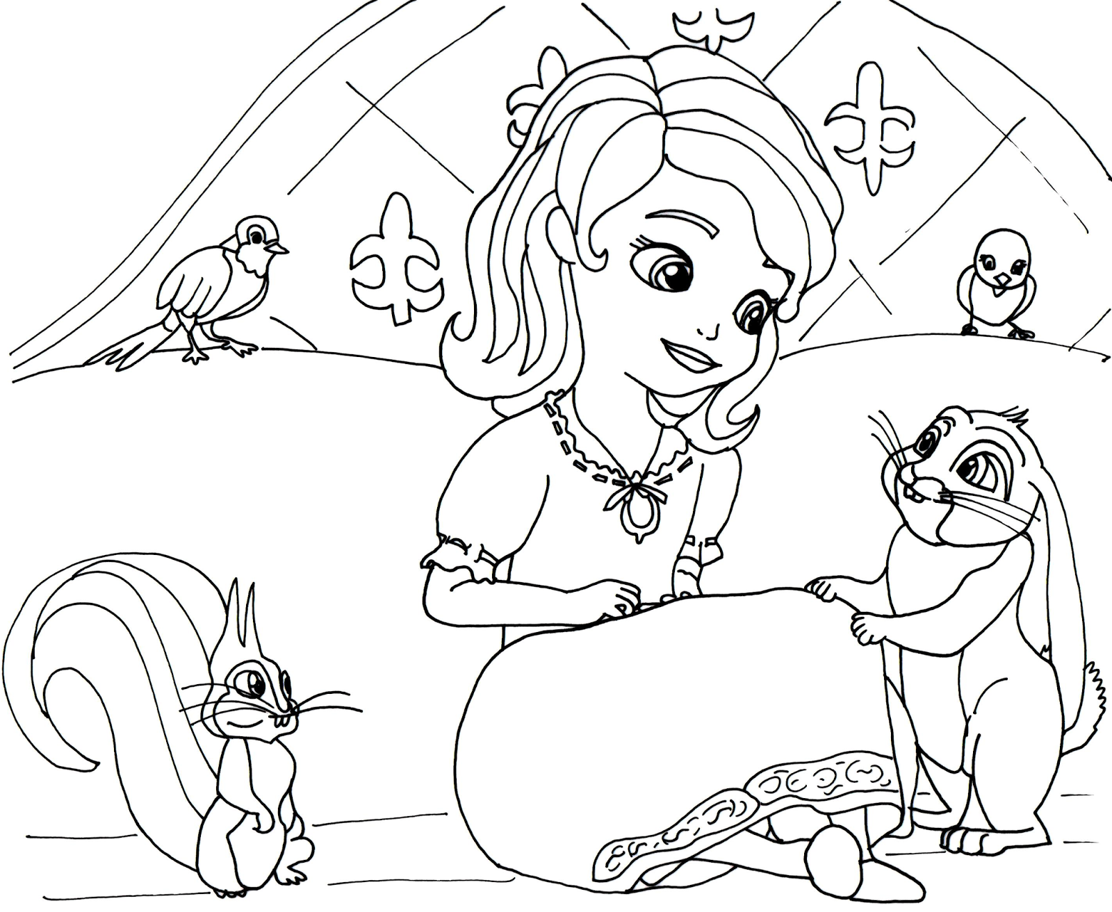 Lots of free and printable coloring pages for the small fans of sofia the first