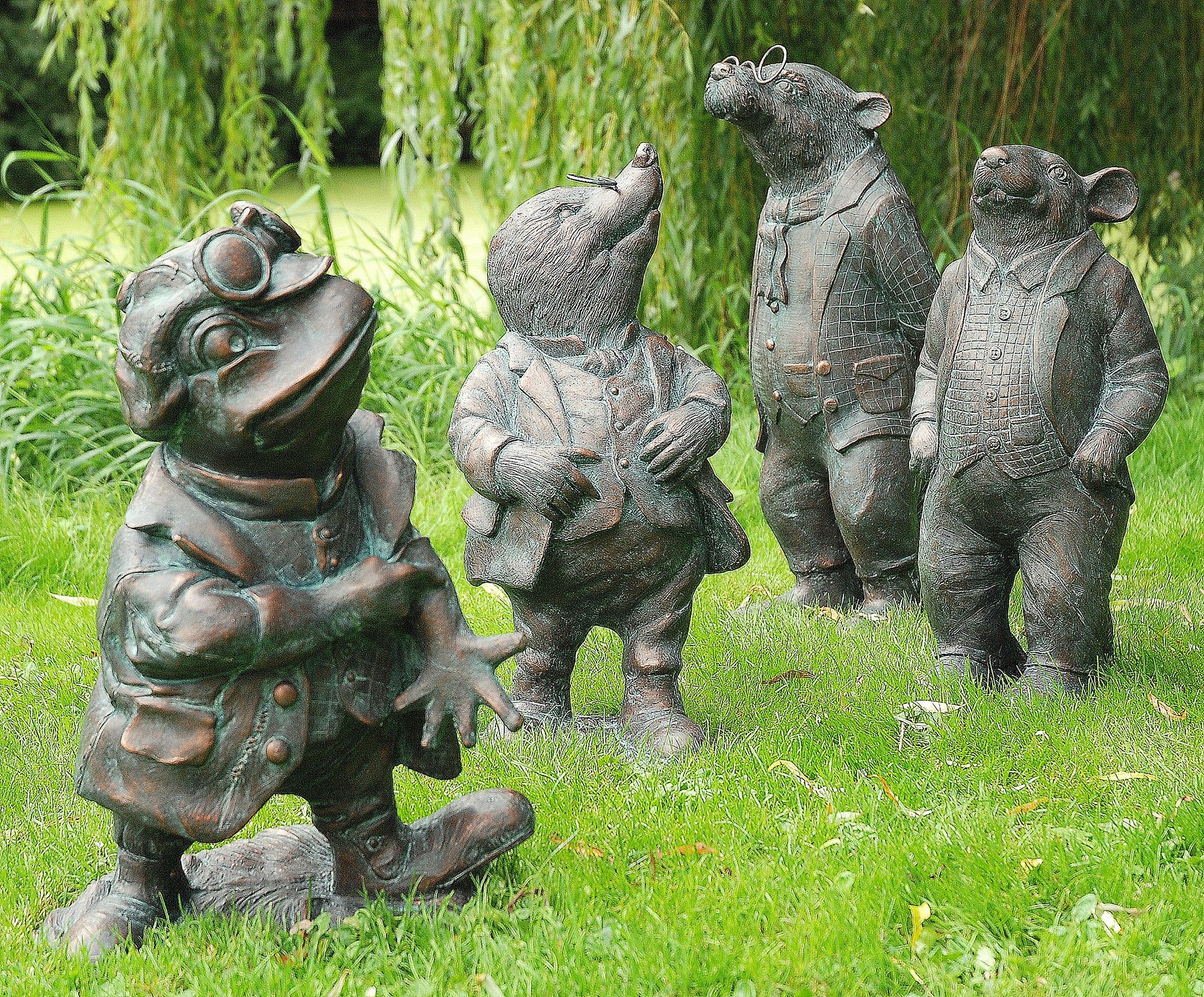 Wind in the willows set of 4 bronze garden ornaments buy now at http