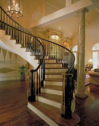 Luxury Curved staircase | Plan 020S-0004 | House Plans and ...