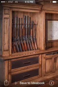 Gun cabinet in closet