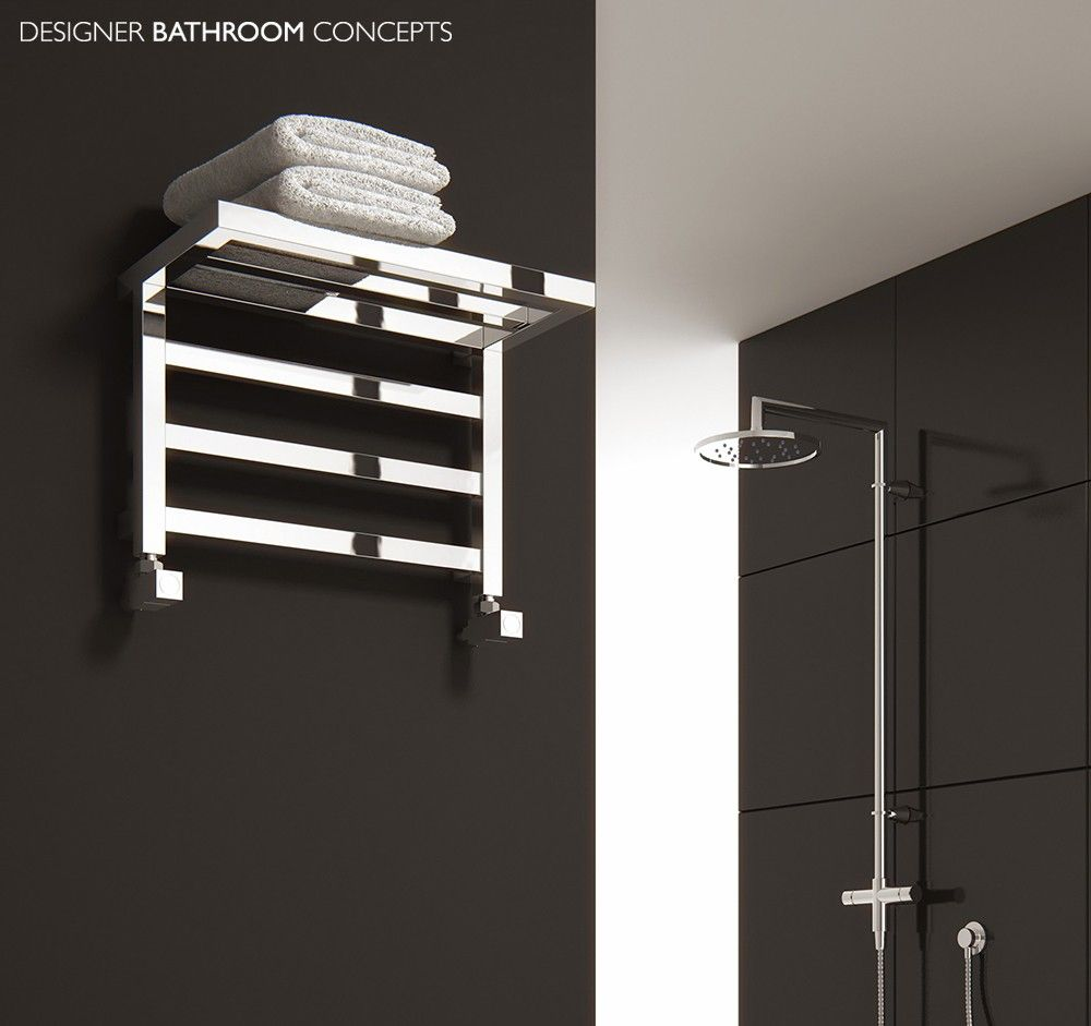 Elvina designer bathroom heated towel rails from designerbathroomconcepts com