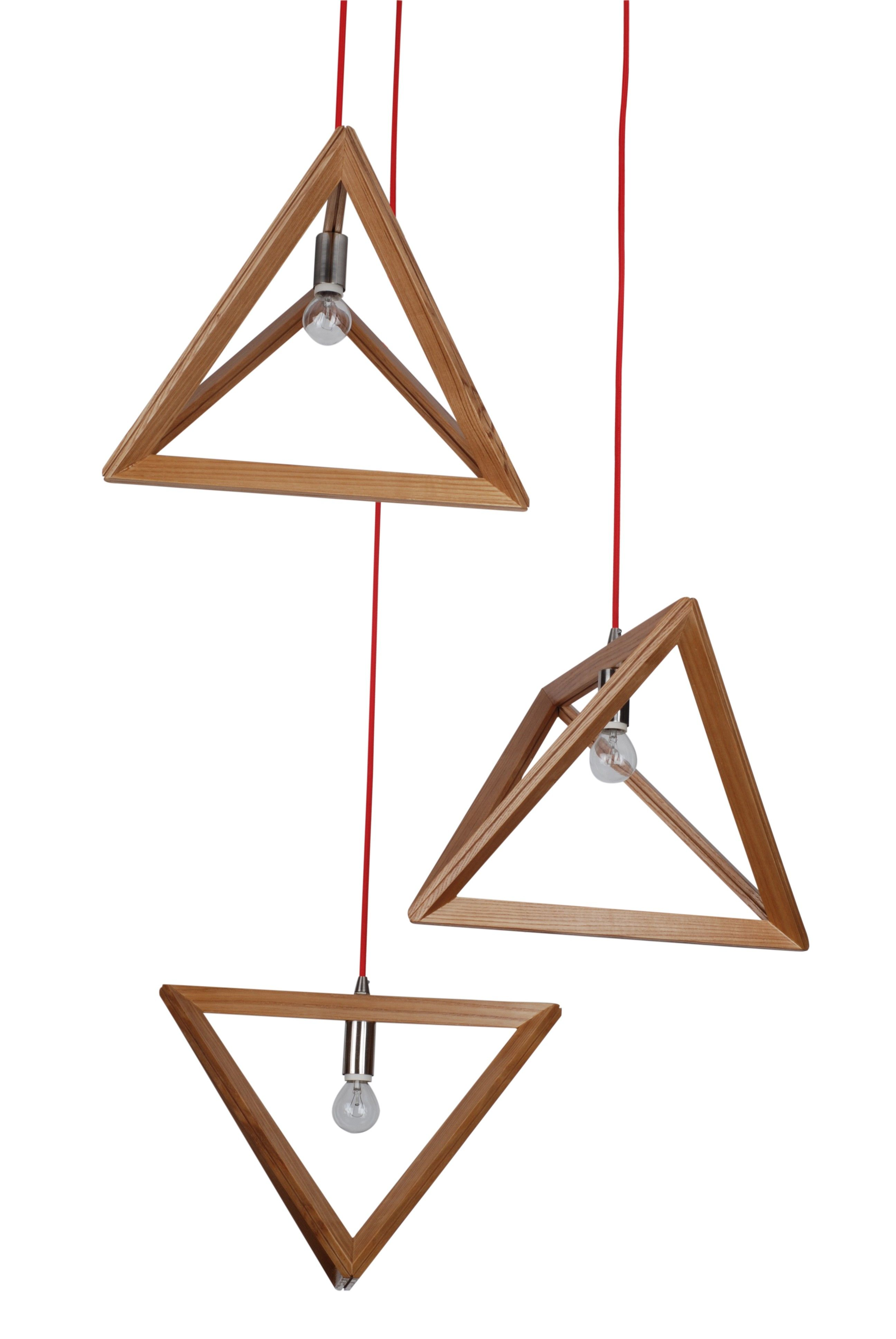 Wooden Lighting Pendants Pendant Light Natural Timber Wood Triangle Projects To